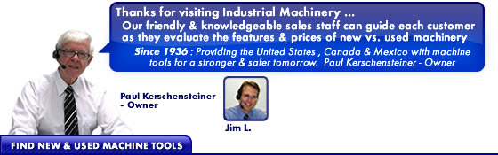 Industrial Machinery Sales Staff provides sales and service for machine shop manufacturers and machinists since 1936