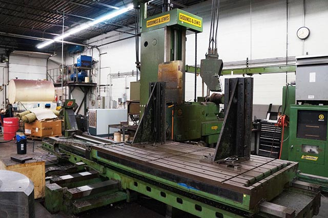 Metal Bending Machine >> 5 GIDDINGS & LEWIS ... CNC HORIZONIAL BORING MILL (PLAIN ...