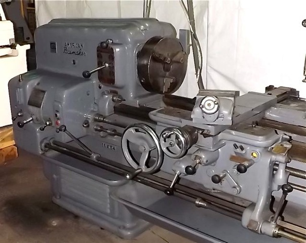 Used 16 X 54 American Pacemaker Lathe 1 4 Spindle Hole Offered For Sale By Industrial